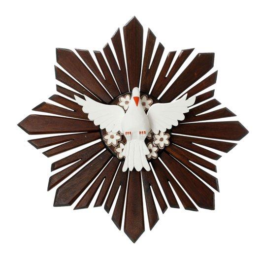 Divino Espírito Santo de madeira - 57x57cm