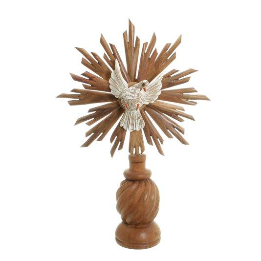 Divino Espírito Santo com pedestal trabalhado - cedro 57x39cm