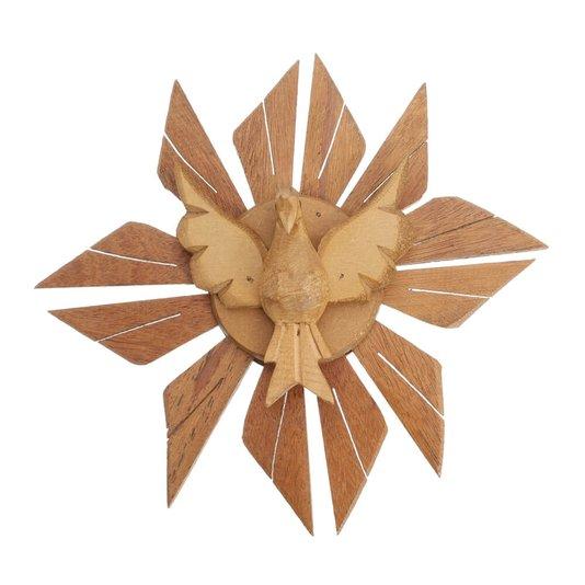 Divino Espírito Santo de madeira - 25cm