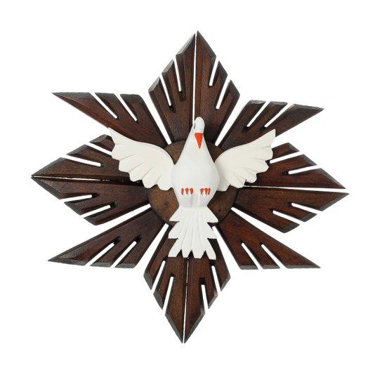 Divino Espírito Santo de madeira - 34x34cm