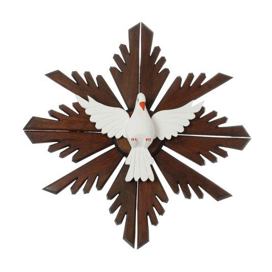 Divino Espírito Santo de madeira - 53x53cm