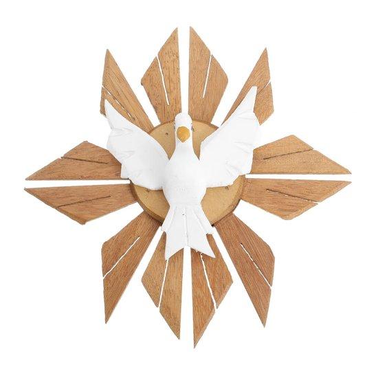 Divino Espírito Santo de madeira - Branco 25cm