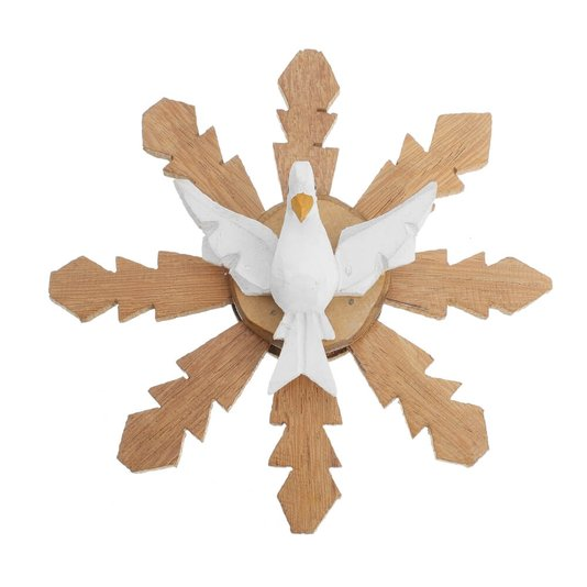 Divino Espírito Santo de madeira mini - branco