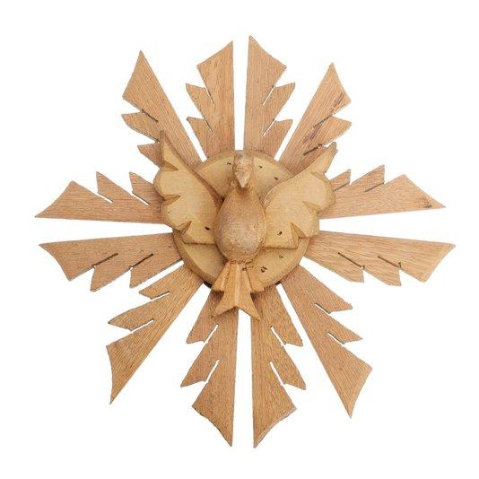 Divino Espírito Santo de madeira trabalhado - 25cm