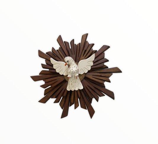 Divino Espírito Santo em madeira - 35cm