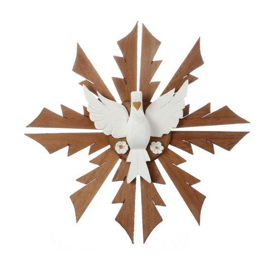 Divino Espirito Santo em madeira - 41x41cm