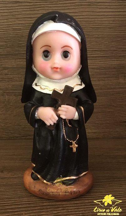 Imagem de Santa Rita de Cássia infantil em resina - 15cm