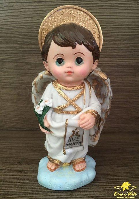 Imagem São Gabriel infantil em resina - 14,5cm