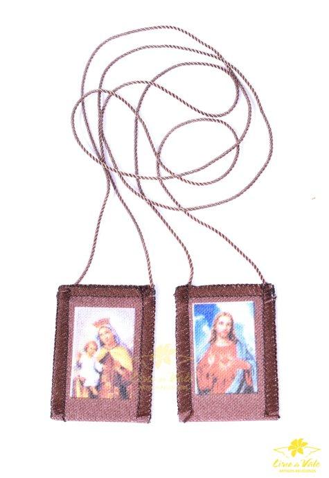 Escapulário Nossa Senhora do Carmo de tecido