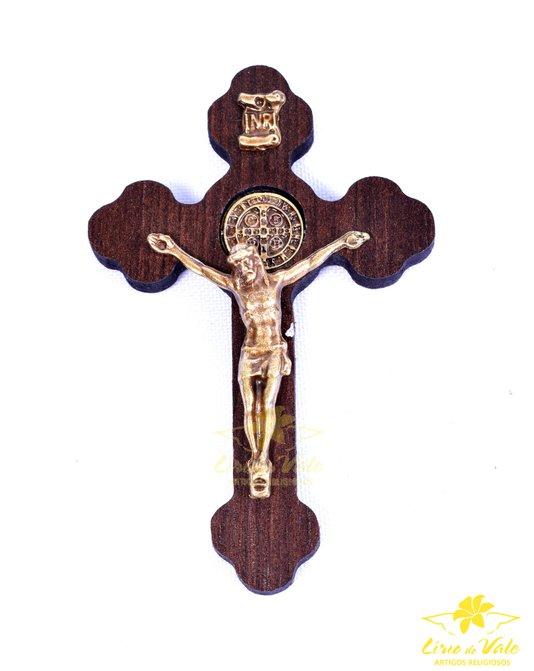 Crucifixo de parede São Bento - 8cm