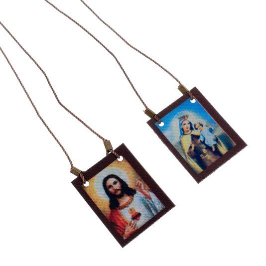 Escapulário de tecido de Nossa Senhora do Carmo Simples