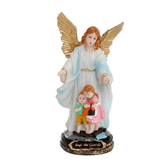 Imagem Anjo da Guarda em resina - Azul 14cm