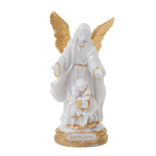 Imagem Anjo da Guarda em resina - Pérola  14cm