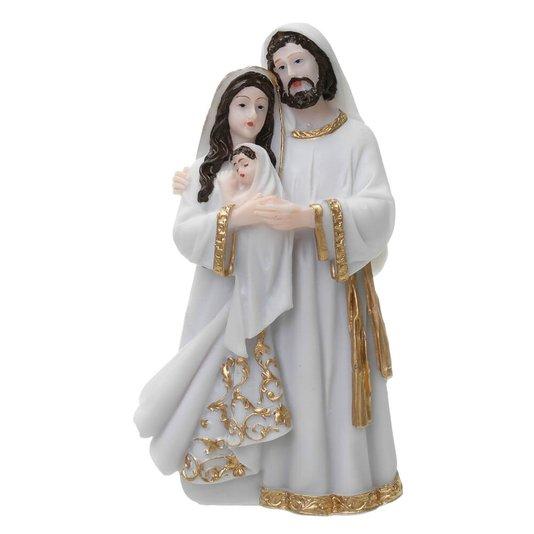 Imagem Sagrada Família em resina - Branca 14cm