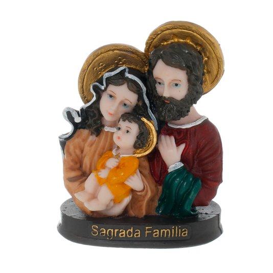 Busto da Sagrada Família em resina - 11cm