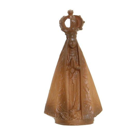 Imagem de Nossa Senhora Aparecida madeira em resina - 10cm