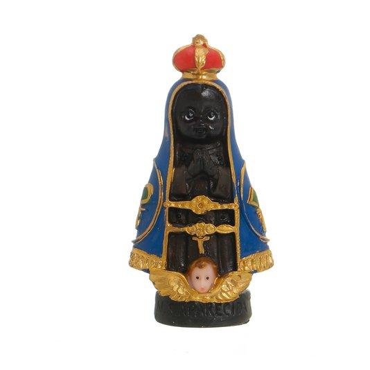 Imagem de Nossa Senhora Aparecida Infantil em resina - 8cm