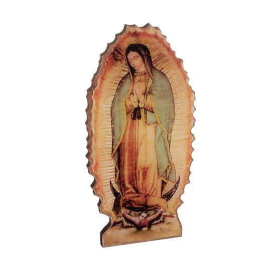Imagem de Nossa Senhora de Guadalupe cor sépia com base em MDF 15x7cm