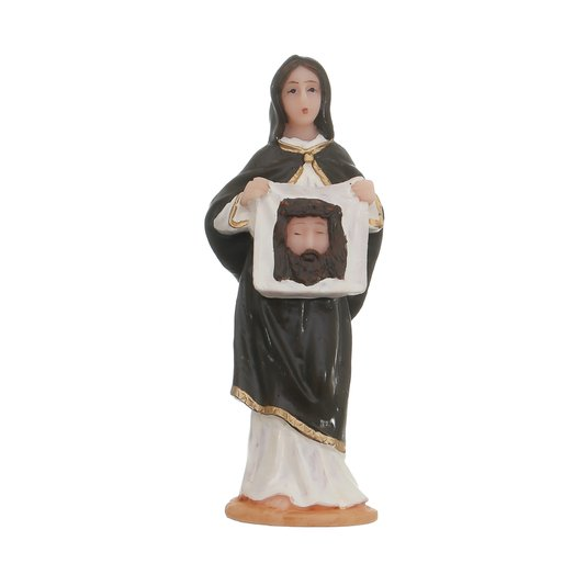 Imagem de Santa Verônica em resina - 07cm