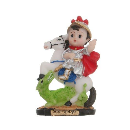 Imagem de São Jorge infantil em resina - 8cm