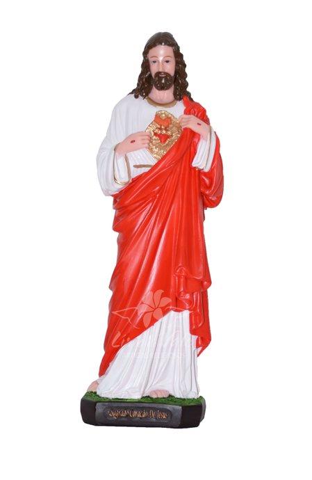 Imagem Sagrado Coração de Jesus em resina - 40cm
