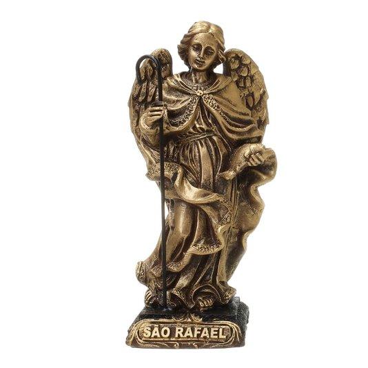 Imagem São Rafael em resina - Dourado 14cm