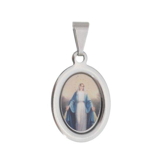 Medalha Nossa Senhora das Graças em inox - 3un