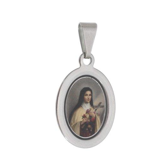 Medalha Santa Teresinha em inox - 3un