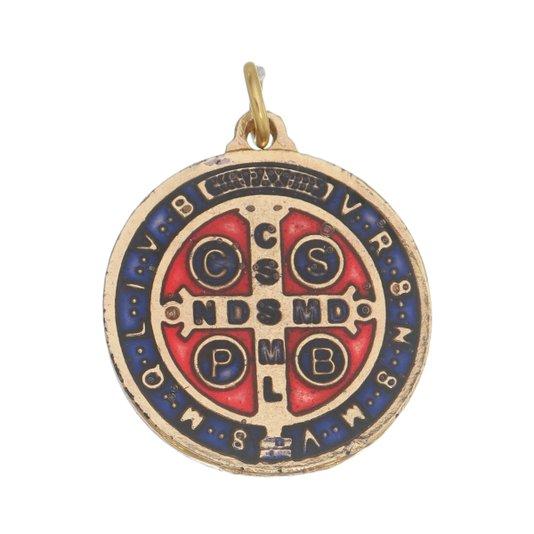 Medalha de São Bento dourada p