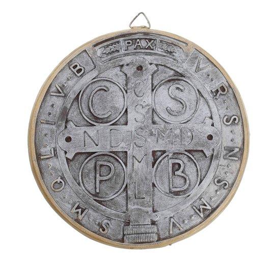 Medalha de São Bento em resina 15cm