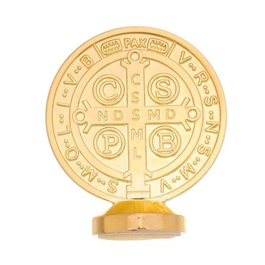 Medalha de São Bento para carro - Dourada