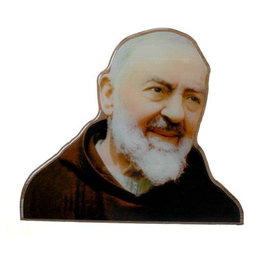Imagem de Padre  Pio com base em MDF 15x18cm