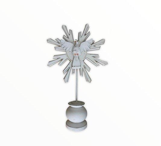 Pedestal Divino Espírito Santo - Branco P
