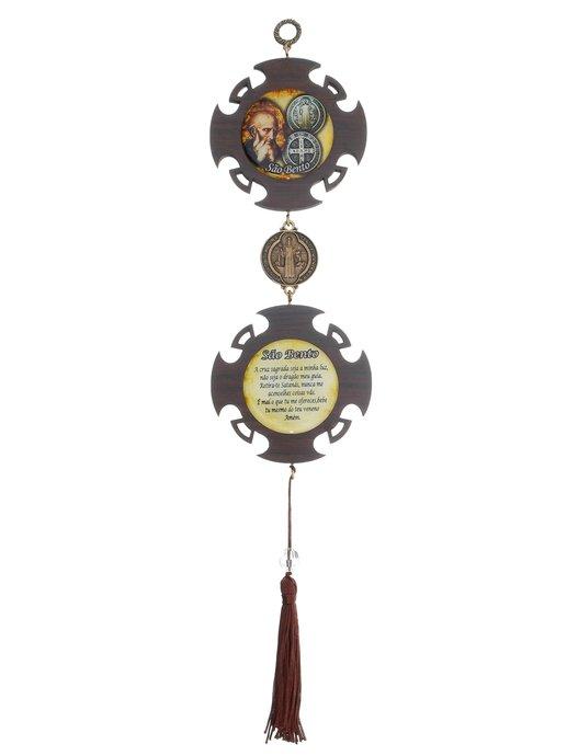 Pêndulo medalha e face de São Bento Luxo P