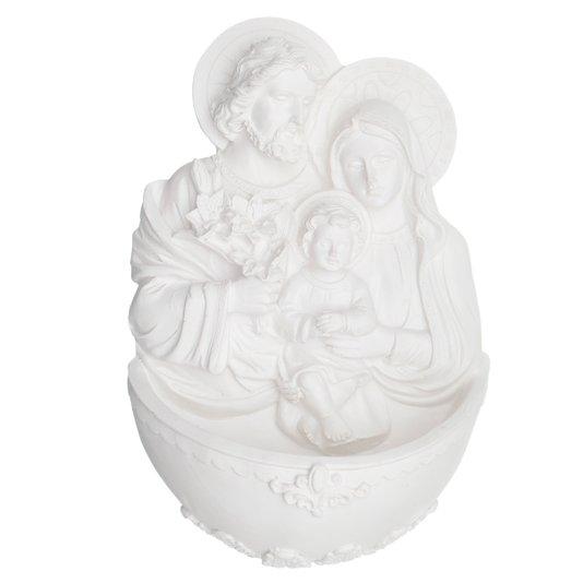Pia para Água Sagrada Família em resina 14x9 cm