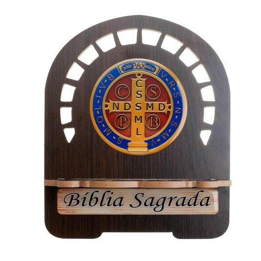 Porta Bíblia Medalha de São Bento (P)