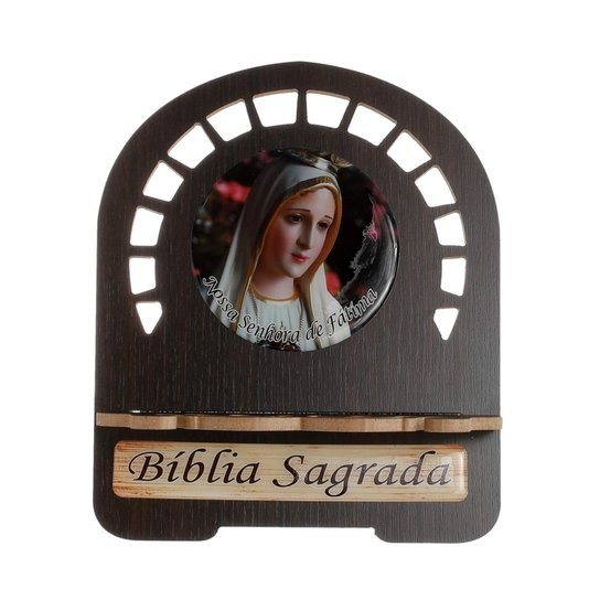 Porta bíblia Nossa Senhora de Fátima - M