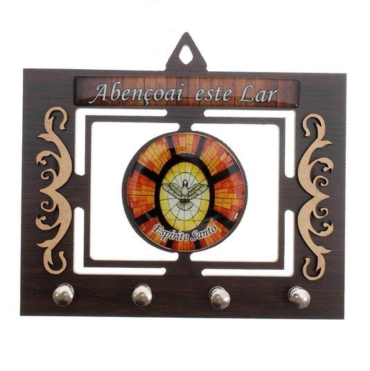 Porta chave Divino Espírito Santo vazado