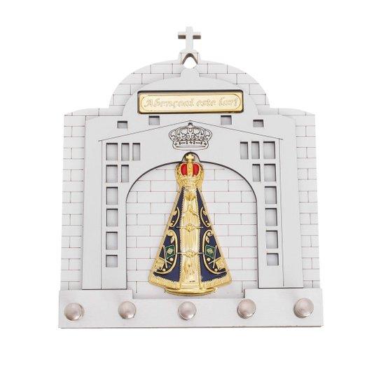 Porta chave Nossa Senhora Aparecida - branco