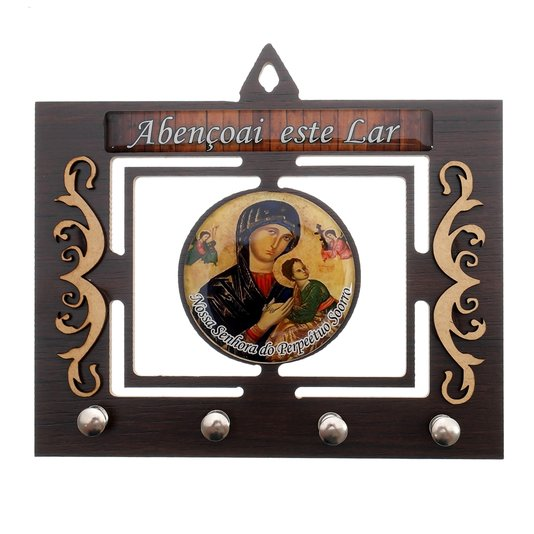 Porta chave Nossa Senhora Perpétuo Socorro vazado