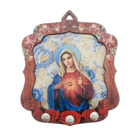 Porta chave Sagrado Coração de Maria 2D
