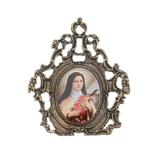Porta retrato de Santa Teresinha - trabalhado