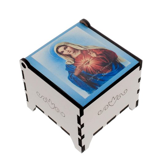 Porta terço Sagrado Coração de Maria