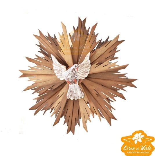 Divino Espírito Santo em madeira de cedro - 64cmX64cm