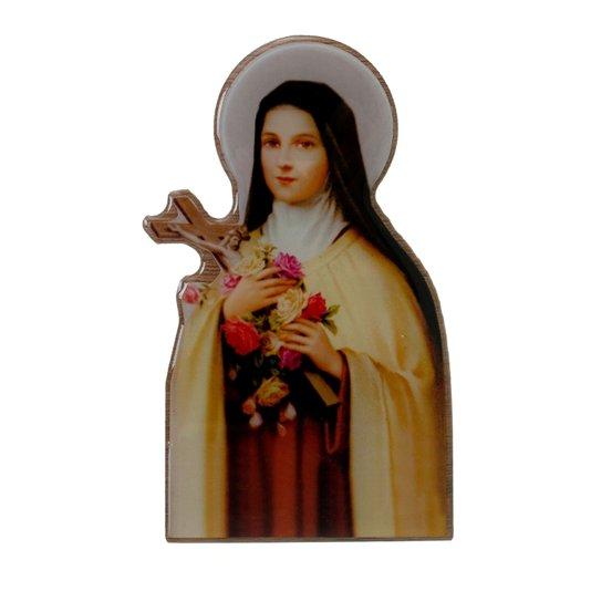 Imagem de Santa Teresinha com base em MDF 15x9cm