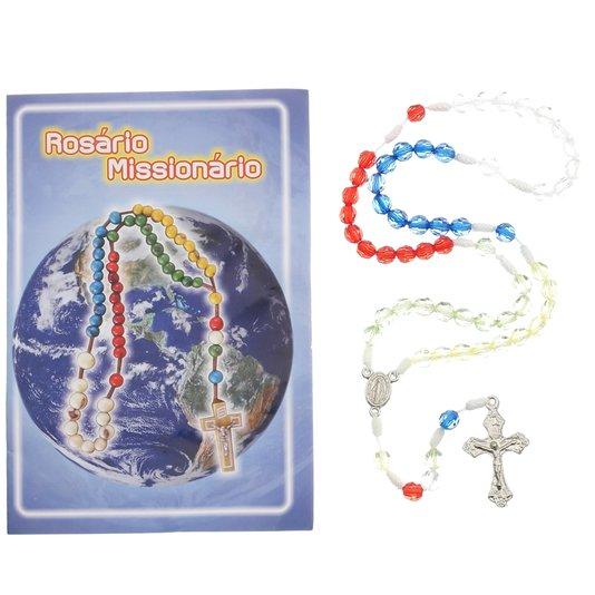 Terço com folheto do Rosário Missionário - 06 UN