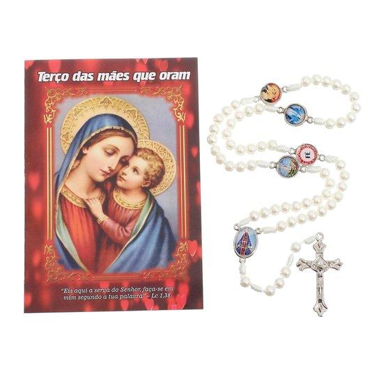Terço das Mães que Oram pelos filhos com folheto - 06 UN