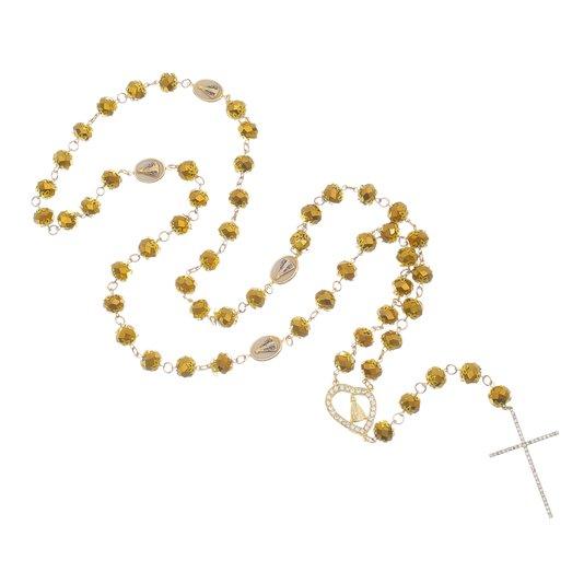 Terço de Nossa Senhora Aparecida para Noiva Dourado