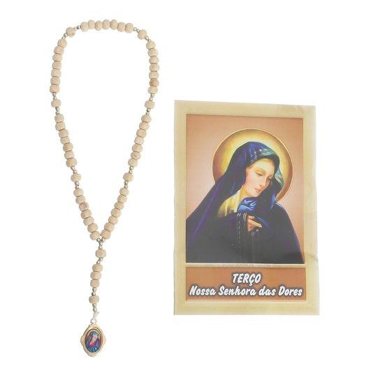 Terço de Nossa Senhora das Dores com folheto - 06 UN
