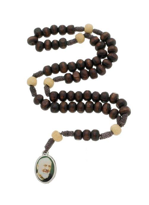 Terço de Padre Pio com folheto - 06un